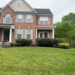 Landscaping results on a local brick house